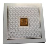 Card of White Invitation Card with Raised Texture - WC_64