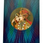 Card back of Multi Colored Wedding Card in Rajasthani Style - WC_65