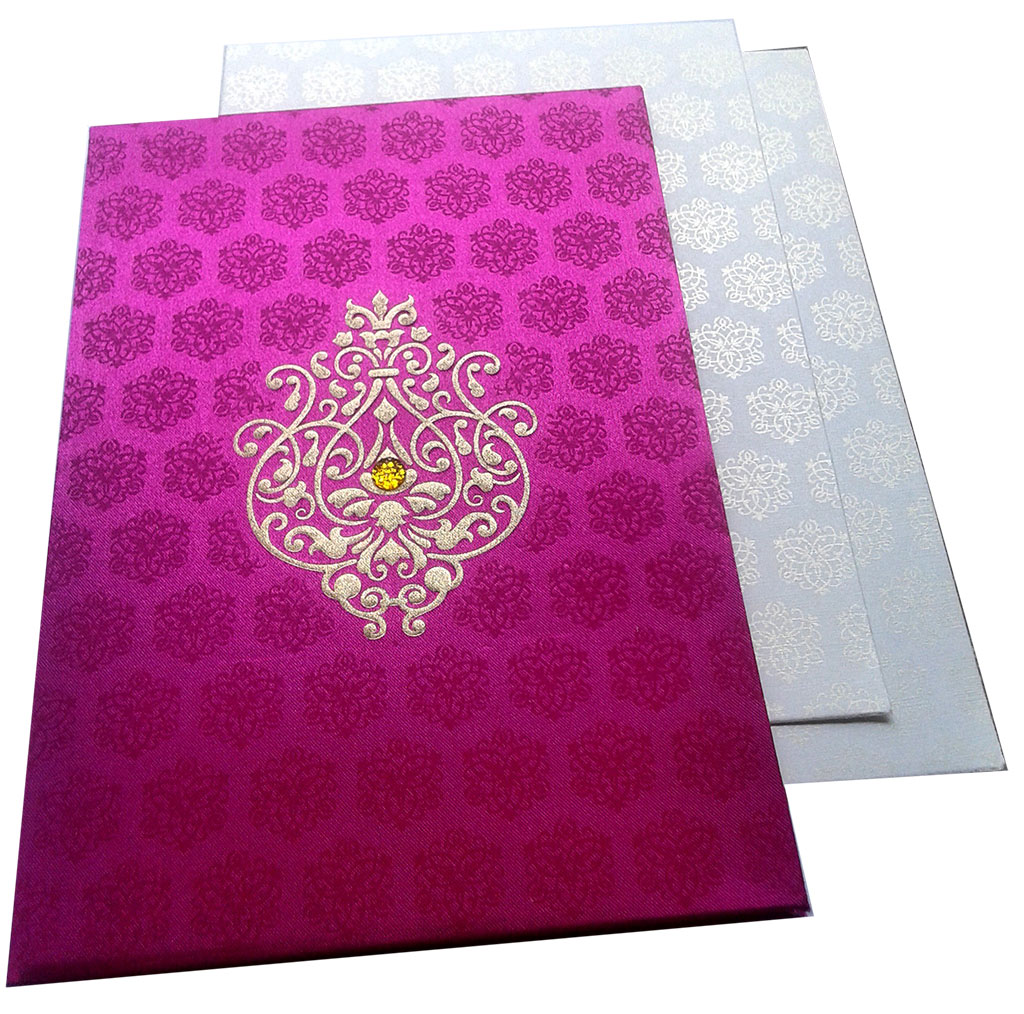 Wedding Card in Pink Satin - WC_49