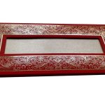Card of Marriage Inviation Card in Bright Red with Golden Frame - WC_51