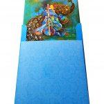 Envelope back of Sacred Indian Wedding Invitation Card in Greenish Blue - WC_52