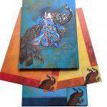 Sacred Indian Wedding Invitation Card in Greenish Blue - WC_52