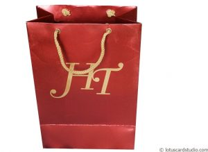 Red Shimmer Finish Gift Bag