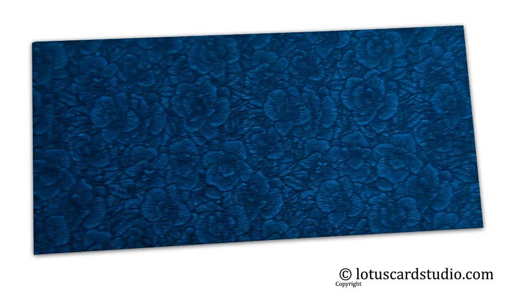 The Blue Flower Flocked Money Envelope