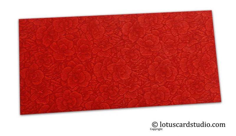 The Red Flower Flocked Money Envelope
