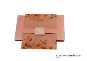 Pink Classic Wedding Card
