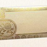 Beige Money Envelope with Golden Paisley
