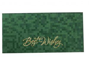 Self Design Money Envelope in Green