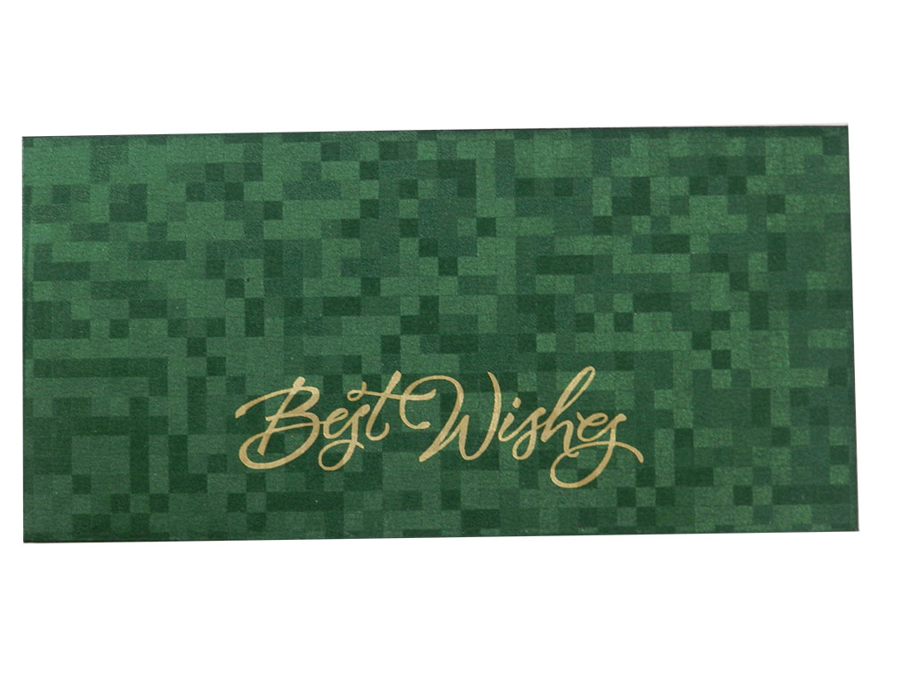 Self Design Money Envelope in Green