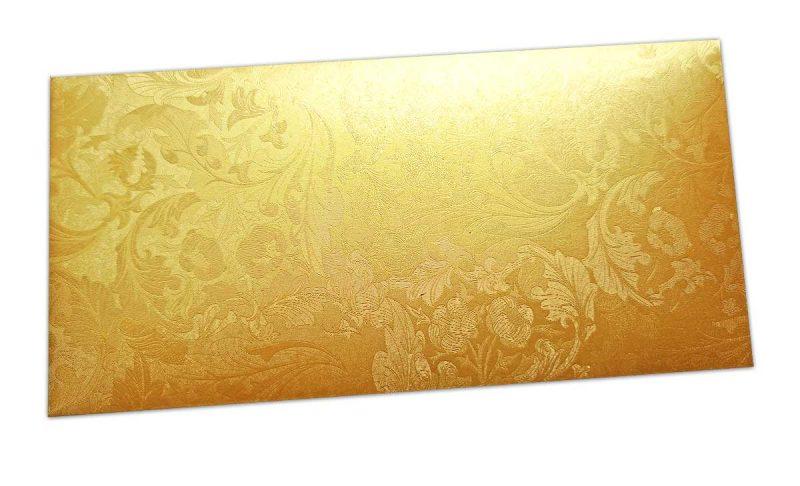 Golden Shimmer Multi Floral Shagun Envelope