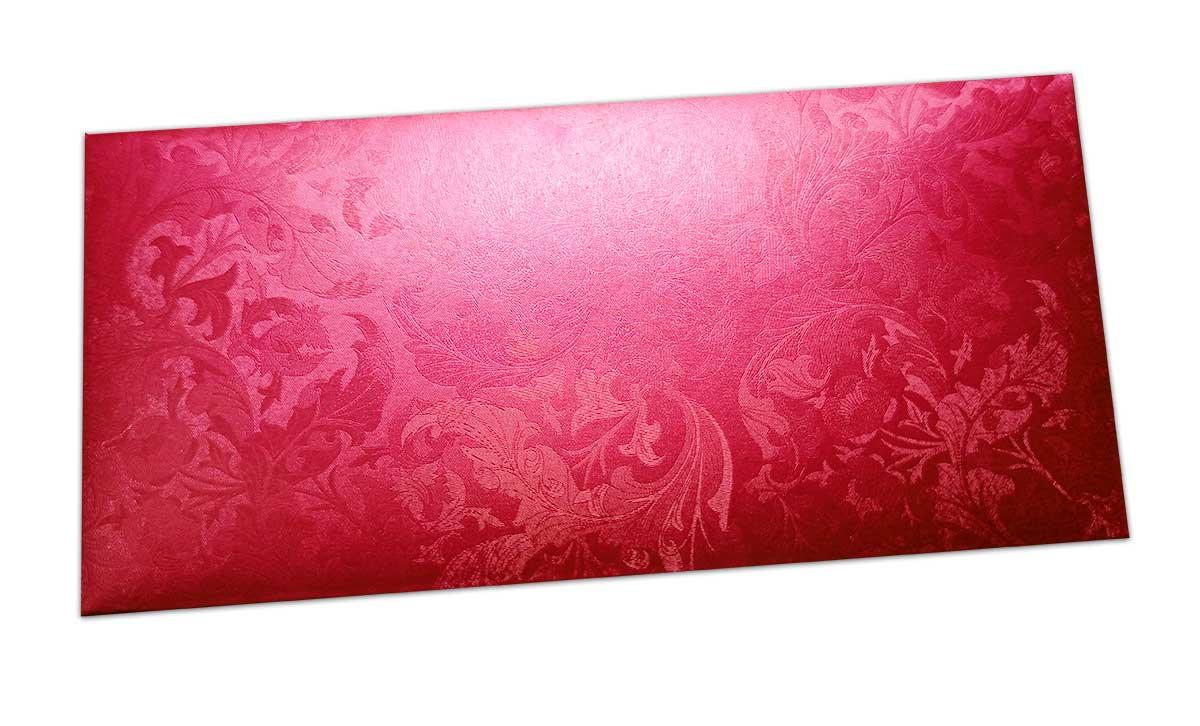 Red Shimmer Multi Floral Shagun Envelope