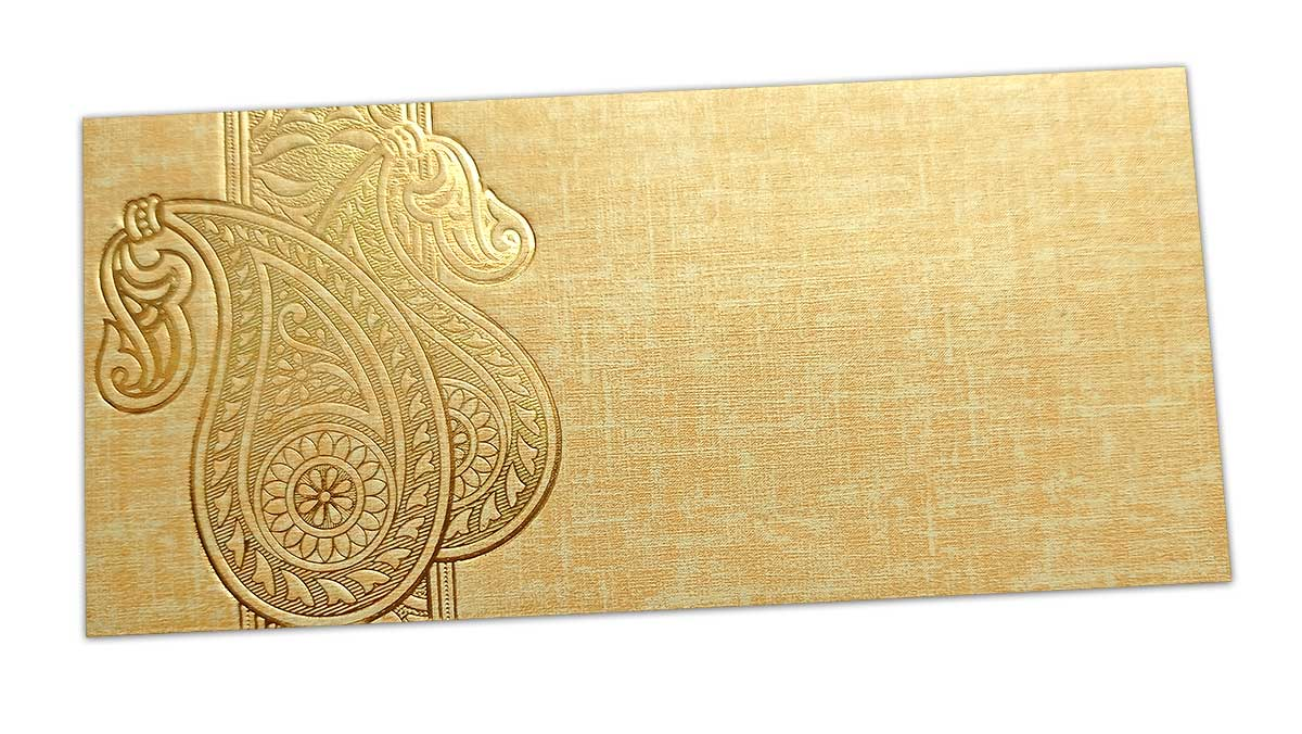 Money Envelope with Hot Foil Stamped Paisley