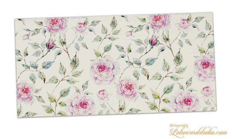 Pink Rose Floral Shagun Envleope