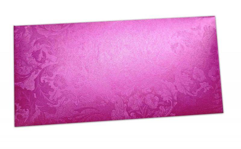 Pink Shimmer Multi Floral Shagun Envelope
