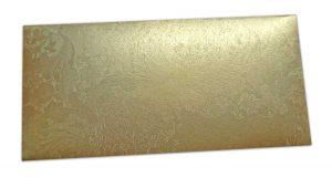 Soft Golden Shimmer Multi Floral Shagun Envelope