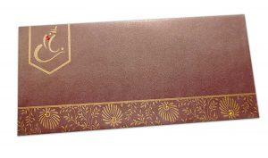 Ganesha Shagun Envelope in Shimmer Brown