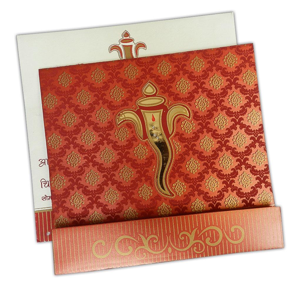 Deep Red Wedding Invitation Card