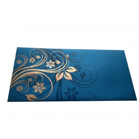 Elegant Floral Theme Shagun Envelopes in Imperial Blue