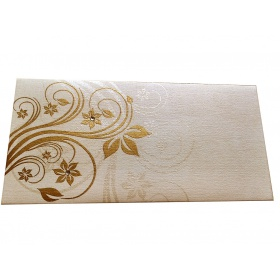Elegant Floral Theme Shagun Envelopes in Ivory