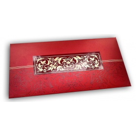Exclusive Sized Glossed Shagun Money Envelope in Royal Red