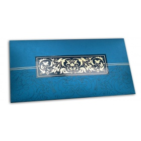 Exclusive Sized Glossed Shagun Money Envelope in Imperial Blue