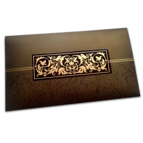 Exclusive Sized Glossed Shagun Money Envelope in Rich Brown