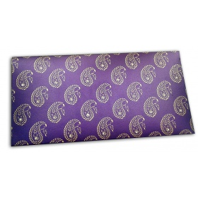 Exlusive Sized Paisley Design Gift Envelope in Super Indigo