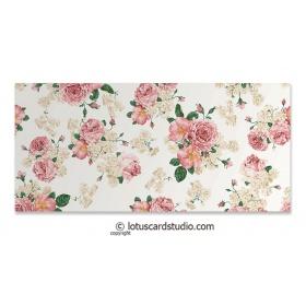 Pink Ivory Vintage Floral Gift Envelope