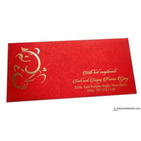 Shagun Envelope in Classic Red Satin Fabric