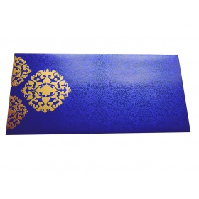 Shagun Envelope in Imperial Blue with Classy Floral Design
