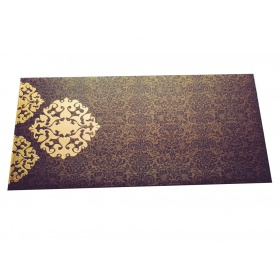 Shagun Envelope in Rich Brown with Classy Floral Design
