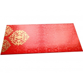 Shagun Envelope in Classic Orange with Classy Floral Design
