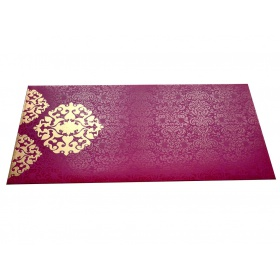 Shagun Envelope in Mexican Pink with Classy Floral Design