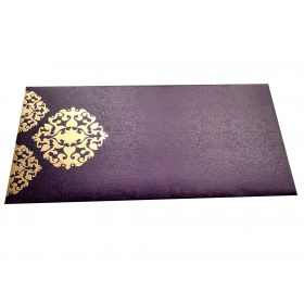 Shagun Envelope in Royal Purple with Classy Floral Design