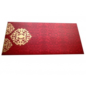 Shagun Envelope in Royal Red with Classy Floral Design