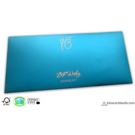 Signature Premium Azure Blue Envelope
