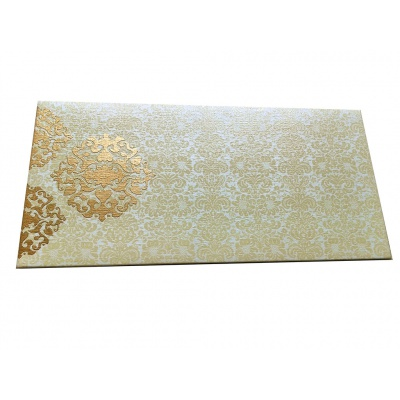 Shagun Envelope In Ivory With Classy Floral Design