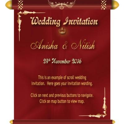 Animated Musical Wedding E Invitation