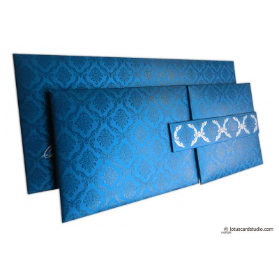 Blue Magnet Dazzling Wedding Invitation Card - WC_152