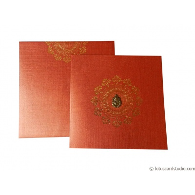 Classic Red Indian Wedding Invitation Card - WC_100