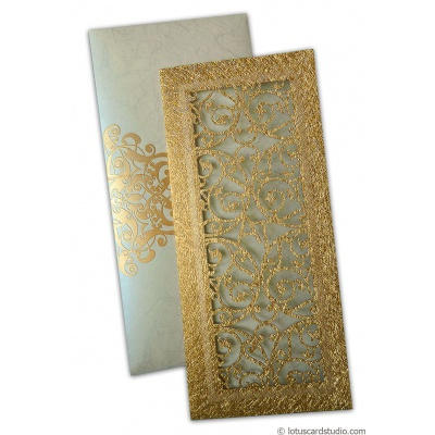 Dazzling Laser Cut Wedding Invite - WC_125