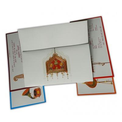 Designer Palanquin Invitation Card - WC_127