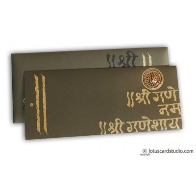 Splendid Wedding Card with Die Casting Ganesh - WC_164
