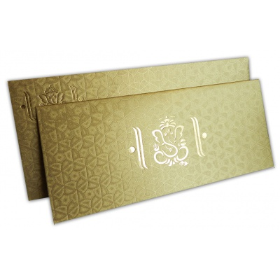 Florescent Golden Wedding Invitation Card - WC_136