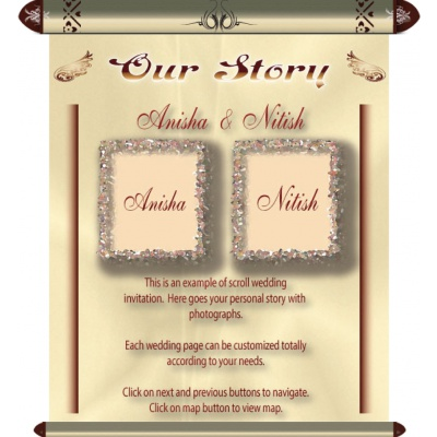 Scroll wedding e-invite EI_06