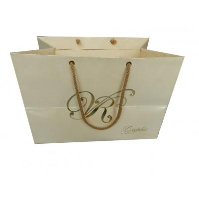 Pearl Finish Cream Gift Bag - Image1