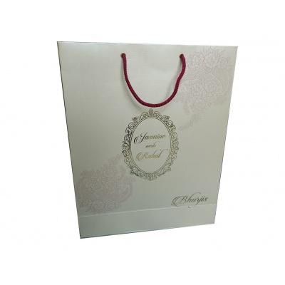 Gift Bag in Shimmer Finish White Color - Front
