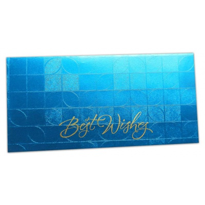 Front of Money Envelope in Blue with Glossy Finish