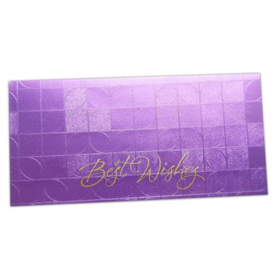 Front of Money Envelope in Purple with Glossy Finish