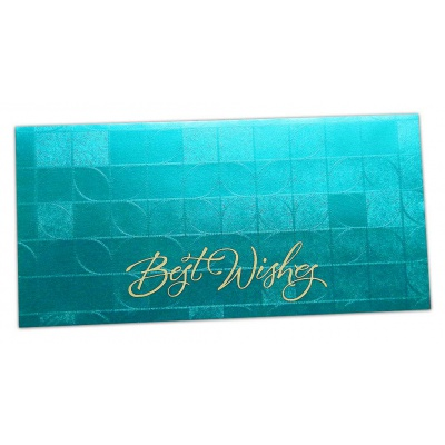 Front view of Gift Envelope With Feather Light Effect in Glamour Green
